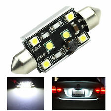 Canbus 42mm 15W 2-CREE + 4-LED 3528 Error Free Festoon License Plate Light White