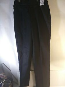 NWT HORACE SMALL Black  POLY/COTTON UNIFORM PANTS w/BLUE STRIPE W 32 In 33