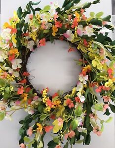 Wreath Floral Garland Flower Arrangement Flowers Berries Door Table