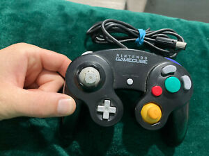 OEM Nintendo Gamecube Controller DOL- 003 Black For Parts AS IS UNTESTED