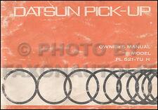 1971 Datsun Pickup Truck Owners Manual Owner Guide Book PL 521 OEM Original