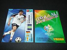 BERND SCHNEIDER DEUTSCHLAND PANINI CARD FOOTBALL GERMANY 2006 WM FIFA WORLD CUP