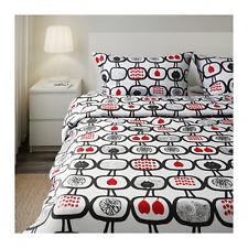 IKEA AENGSSKAERA Ropa de cama, Conjunto 3 piezas, negro/blanco 200x200 - 60x70cm