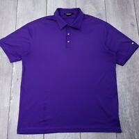 Nike Tiger Woods Golf Polo Shirt Mens Large Purple Dri-Fit Short Sleeve P19