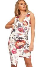 Floral Stretch Wrap Dresses