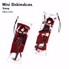 HOT Anime Keychain RWBY Ruby Rose Mini Dakimakura Key Chain Phone Strap