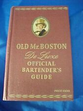 Orig 1949 OLD MR BOSTON Deluxe BARTENDERS GUIDE BOOK