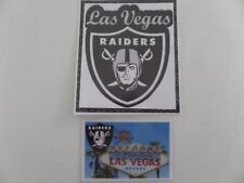 Las Vegas Raiders Nfl Football, Sin City Sticker and Welcome to Lv Fridge Magnet