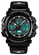 Boys Digital Analogue Watches - Kids Outdoor Sports Watch, 5 ATM Waterproof Elec