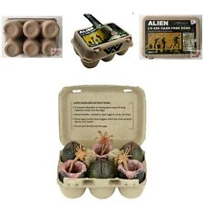 XENOMORPH ALIEN EGG CARTON Neca ALIENS FACEHUGGER 2015 Open Face & Closed EGGS
