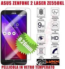 "Pellicola VETRO temperato ASUS ZENFONE 2  Laser ZE550KL 5.5"" Antiurto Oleofobica"