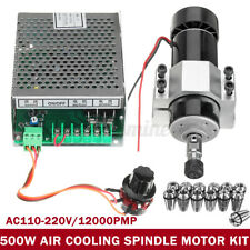 CNC Air Cooling 500W Spindle Motor+Speed Governor+13 ER11 Spring +52MM Clamp New