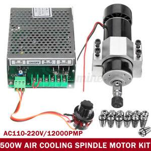 CNC Aria Raffreddamento 500W Mandrino Motore + Velocità Governor + 13 ER11 Molla