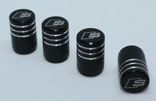 4x Valve Cap for AUDI Aluminium Dust Caps for S Line Brand New Black Check