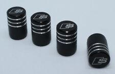 4x Valve Cap for AUDI Aluminium Dust Caps for S Line Brand New Black Check