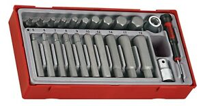"Teng Tools TTHEX23 23 Piece 1/2"" Drive Regular & Long Hex Bit Socket Set"