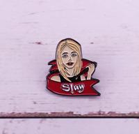 Buffy The Vampire Slayer Enamel Pin Halloween Horror Lapel Pin Retro TV Show