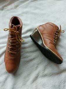 Timberland Ladies Tan Leather Ankle Boots Size 5.5
