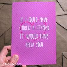Lovely Stepdad Fathers Day Card - Humour Dad Greeting Card Step Dad