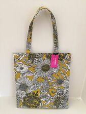 Liberty of London Target Tote Bag Coated Cotton Gold Black White Floral New Tag