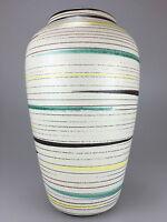 70er Jahre Vase Blumenvase Tischvase Keramik Weiß Design Fat Lava Space Age 60s