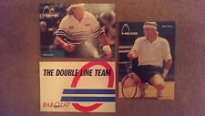 12 Collectable Tennis Postcards/ Autograph Cards- Vintage Babolat and Head