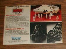 Seltene Werbung Kenner Star Wars ESB Millennium Falcon Vader Koffer Holland 1982