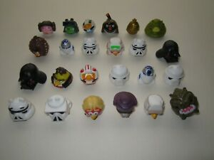 ANGRY BIRDS STAR WARS - RUBBER FIGURES - BUNDLE OF 24