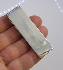 Stunning Sterling Silver Stripe Money Clip Tiffany & Co Estate Vintage Unusual