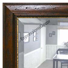 Custom Dark Wormhole Beveled Wall Mirror, Mantle & Bathroom Art Decor
