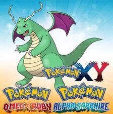 * Battle Ready * Shiny Dragonite * ORAS Sun Moon X Y Pokemon * IV EV Maxed *
