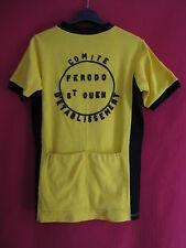 Maillot cycliste Jaune Ferodo Saint Ouen 70'S Vélo Vintage Paris - M