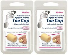 2 Pack PediFix Nylon-Covered Toe Cap Medium 1 Each