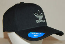 Adidas Men's Originals Trefoil Dart Hat / Cap NEW Snapback Black / White