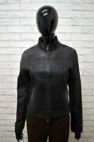 Giacca SPORTMAX Taglia Size 42 Donna Jacket Woman Ecopelle Nero Zip