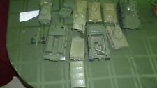 Vintage Lot of 10 Green Plastic Army Tanks, Vehicles. Processed Plastic, other