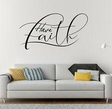 Custom Quote Have Faith Wall Decal Decor Sticker Vinyl Lettering CUSTOM M1329