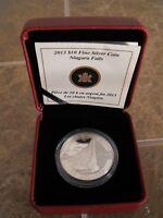 Canada 2013 $10 Fine Silver Coin Niagara Falls (O'Canada Series)