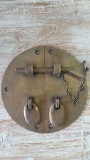 Brass Reproduction Oriental Door Hardware Latch Pin Cupboard Lock 15cm