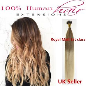 """16""""-22"""" 1g 7A* Nano Ring Double Drawn Russian/Indian Remy Human Hair Extensions"""