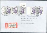 Berlin Mi.-Nr. 824 / Paar als Mehrfrankatur - MeF - FDC per Einschreiben