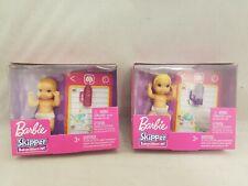 Bundle of 2 Mattel Barbie Baby Play Set Skipper Babysitter Inc new