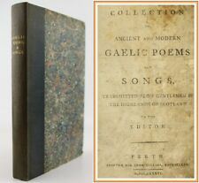 *1786*GILLIES COLLECTION OF GAELIC SONGS*POETRY*SCOTTISH HIGHLANDS*PERTH**RARE**