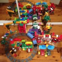 Lego Duplo Bulk 10593 Fire Station Piston Cup 10857 Train Set 1050 and More