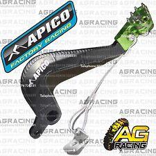 Apico Black Green Rear Brake Pedal Lever For Kawasaki KX 85 2005 Motocross New