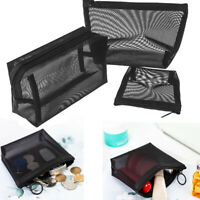 Bag Zipper Storage Mesh Package Cosmetic Pouch Travel Organizer Makeup Bags