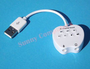USB 2.0 External Sound Card 8.1 Channel 3D Adapter For Speaker MIC PC Laptop