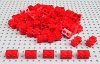 Lego Red 1x2 Brick with 2 Studs on each side (52107) x10 in a set BRAND NEW City