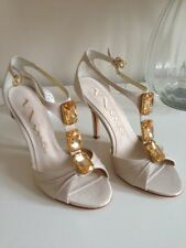 BNIB Nina Peppino sand champagne jewelled party wedding shoes UK size 3