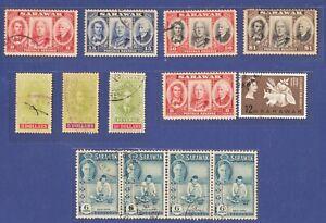 Sarawak 1946 Centenary Issue and Extra Used.